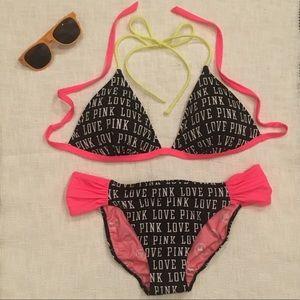 👙New PINK Victoria's Secret Halter Tie Bikini SzL